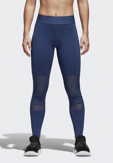 Купить Леггинсы adidas - цвет: синий, Индонезия, AD002EWAMCK6