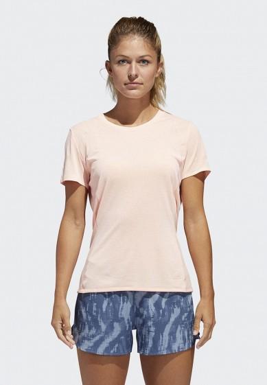Купить Футболка спортивная adidas - цвет: розовый, Индонезия, AD002EWCDHV1
