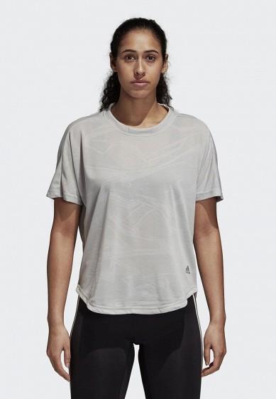Купить Футболка спортивная adidas - цвет: серый, Камбоджа, AD002EWCDHX6