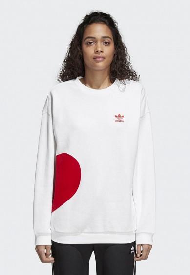Купить Свитшот adidas Originals - цвет: белый, Пакистан, AD093EWALOO7