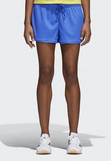 Купить Шорты спортивные adidas Originals - цвет: синий, Индонезия, AD093EWALOQ7