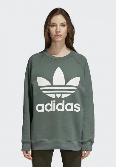 Купить Свитшот adidas Originals - цвет: хаки, Камбоджа, AD093EWCCZF7