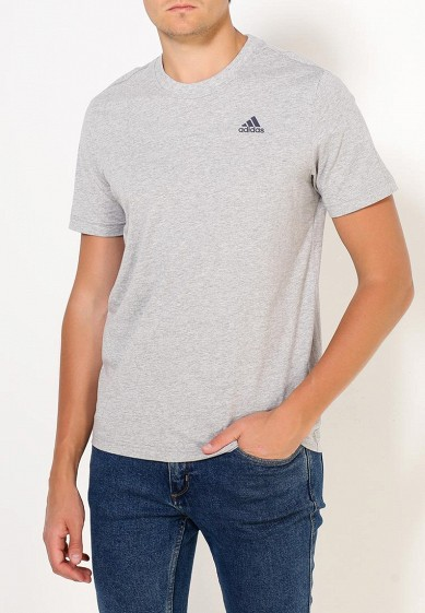 Купить Футболка adidas - цвет: серый, Индонезия, AD094EMUOE79