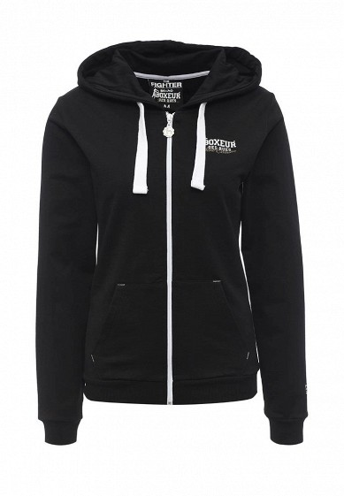Толстовка Boxeur Des Rues LADY HOODED FZIP SWEAT FRONT AND BACK PRINT