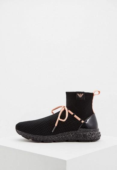 Купить Кроссовки Emporio Armani - цвет: черный, Китай, EM598AWBLKZ6