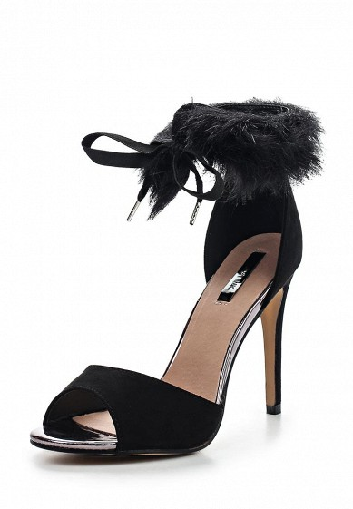 Босоножки LOST INK DONI FAUX FUR STRAP HEELED SANDAL