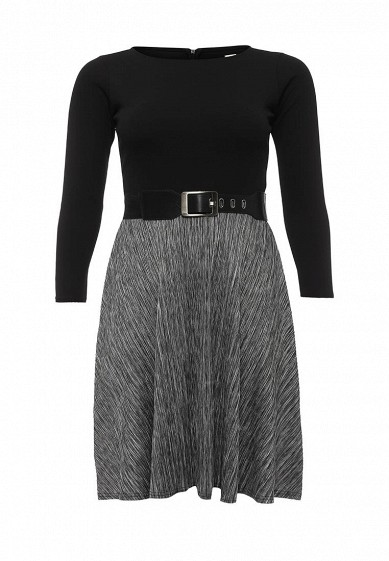 Платье LOST INK CURVE SKATER DRESS WITH PLEATED SKIRT AND BELT