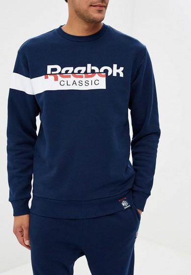 Купить Свитшот Reebok Classics - цвет: синий, Пакистан, RE005EMCDKO0