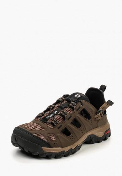 Ботинки трекинговые Salomon - цвет: коричневый, Вьетнам, SA007AMPRW29  - купить со скидкой