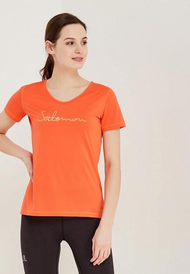 Купить Футболка спортивная Salomon - цвет: оранжевый, Таиланд, SA007EWZOS80