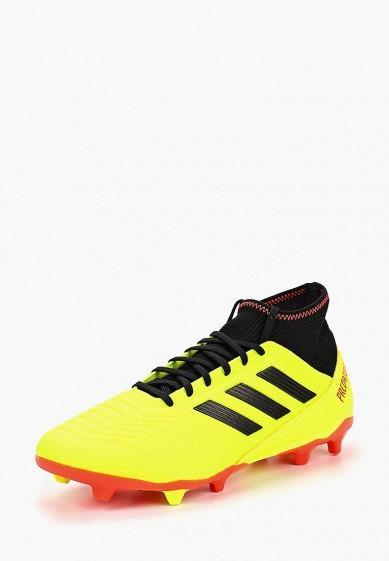 Купить Бутсы adidas - цвет: желтый, Индонезия, AD002AMCDIX4