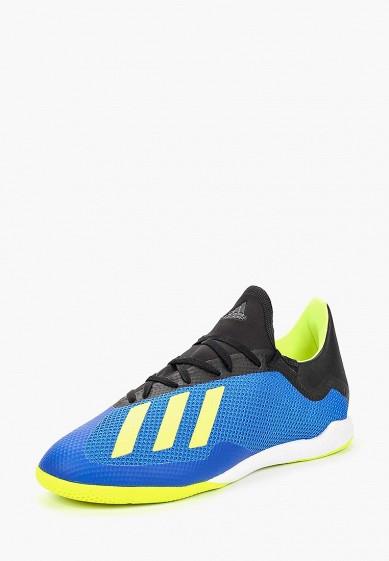 Купить Бутсы adidas - цвет: синий, Индонезия, AD002AMCDIZ6
