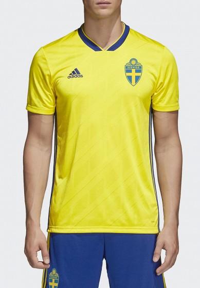 Купить Футболка спортивная adidas - цвет: желтый, Вьетнам, AD002EMALUK7