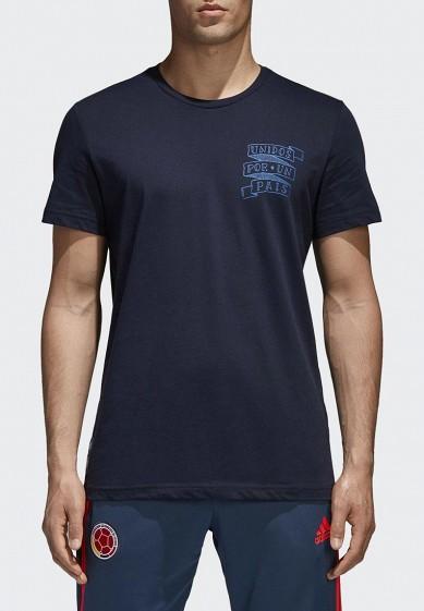 Купить Футболка adidas - цвет: синий, Китай, AD002EMALUN3