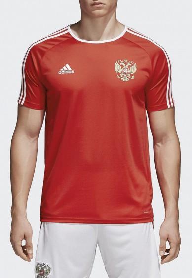 Купить Футболка спортивная adidas - цвет: красный, Вьетнам, AD002EMALUN4