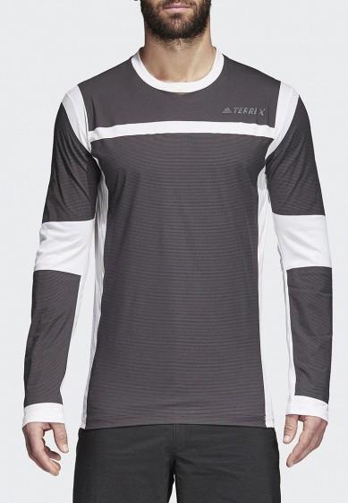 Купить Лонгслив спортивный adidas - цвет: серый, Вьетнам, AD002EMAMBB8