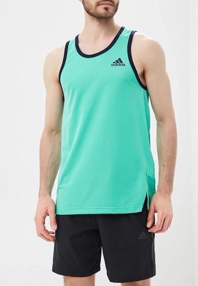 Купить Майка спортивная adidas - цвет: зеленый, Таиланд, AD002EMAMBC4