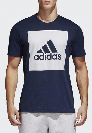 Купить Футболка adidas - цвет: синий, Индонезия, AD002EMAMBK2