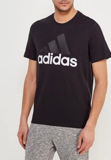 Купить Футболка adidas - цвет: черный, Индонезия, AD002EMAMBK3