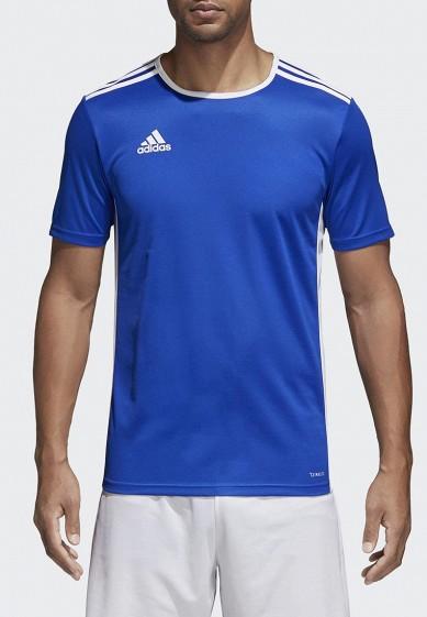 Купить Футболка спортивная adidas - цвет: синий, Индонезия, AD002EMAMBN4