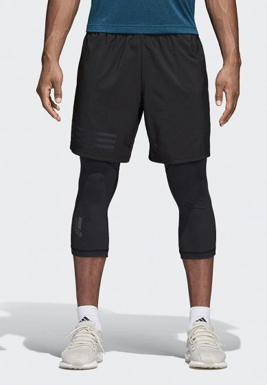 Купить Шорты спортивные adidas - цвет: черный Вьетнам AD002EMAMCA1