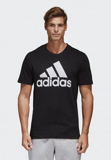 Купить Футболка adidas - цвет: черный, Индонезия, AD002EMCDFX2