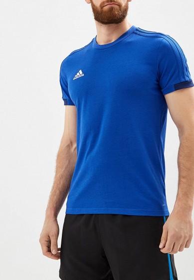 Купить Футболка спортивная adidas - цвет: синий, Камбоджа, AD002EMCDGB4
