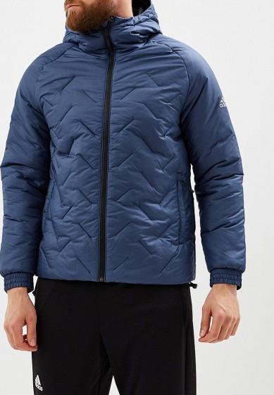 Купить Куртка утепленная adidas - цвет: синий, Бангладеш, AD002EMCDGO5