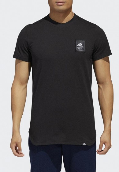 Купить Футболка спортивная adidas - цвет: черный, Индонезия, AD002EMCDGV3