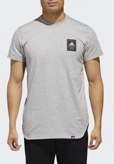 Купить Футболка спортивная adidas - цвет: серый, Индонезия, AD002EMCDGV4