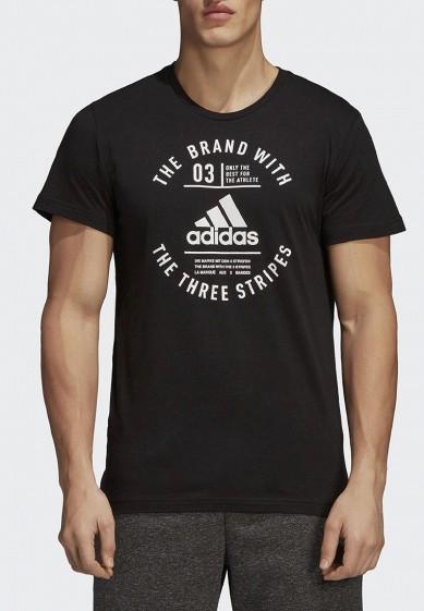 Купить Футболка adidas - цвет: черный, Турция, AD002EMCDGW0