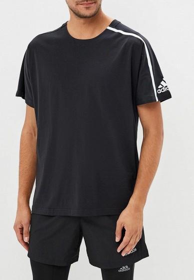 Купить Футболка спортивная adidas - цвет: черный, Индонезия, AD002EMCDGZ2