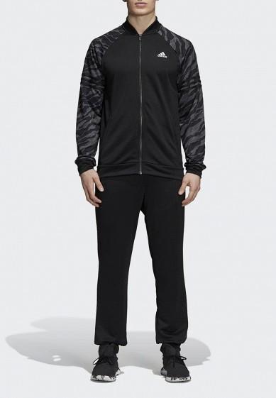 Купить Костюм спортивный adidas - цвет: черный, Камбоджа, AD002EMCDHB2