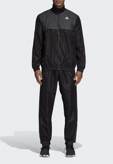 Купить Костюм спортивный adidas - цвет: черный, Камбоджа, AD002EMCDHB4