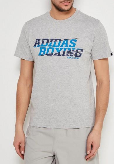 Купить Футболка спортивная adidas Combat - цвет: серый, Пакистан, AD002EMTZR30