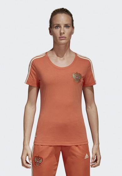 Купить Футболка спортивная adidas - цвет: коралловый, Китай, AD002EWALUW5