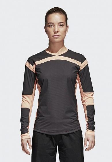 Купить Лонгслив спортивный adidas - цвет: серый, Вьетнам, AD002EWAMCH8