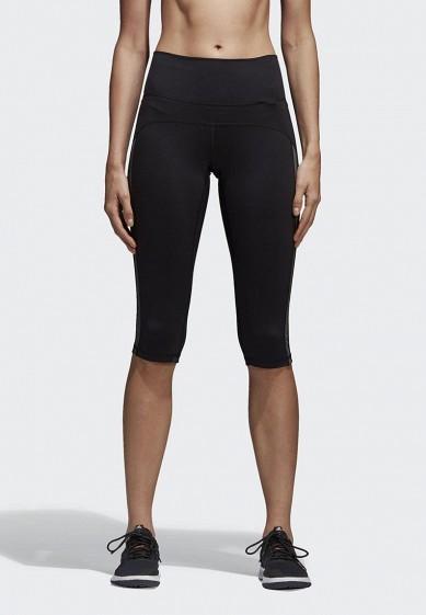 Купить Капри adidas - цвет: черный, Индонезия, AD002EWAMCM1