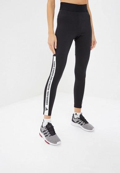 Купить Тайтсы adidas - цвет: черный, Индонезия, AD002EWCDHV7