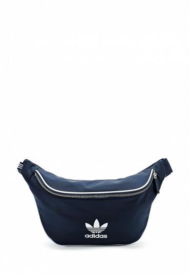 Купить Сумка поясная adidas Originals - цвет: синий, Вьетнам, AD093BUALQU3
