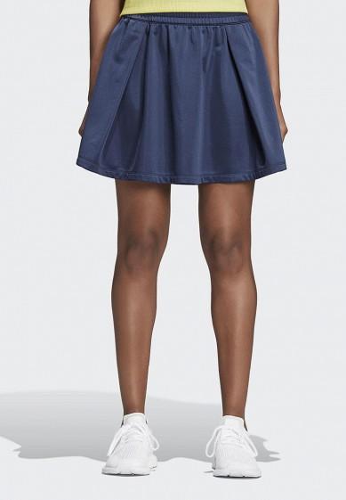 Купить Юбка adidas Originals - цвет: синий, Камбоджа, AD093EWALOQ9