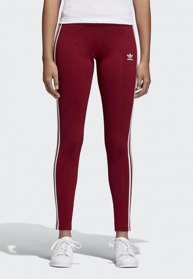 Купить Леггинсы adidas Originals - цвет: бордовый, Пакистан, AD093EWALOX9