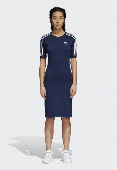 Купить Платье adidas Originals - цвет: синий, Пакистан, AD093EWALPC6