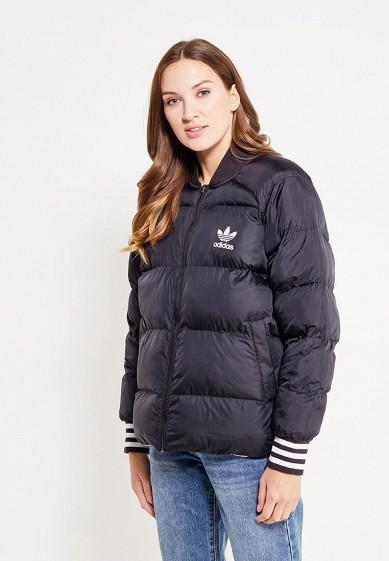 Купить Куртка утепленная adidas Originals - цвет: белый, черный, Китай, AD093EWUNQ12