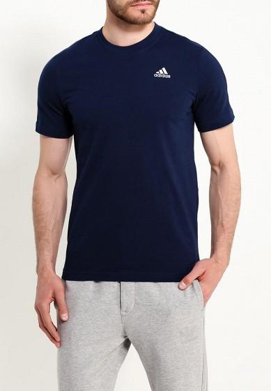 Купить Футболка adidas - цвет: синий, Индонезия, AD094EMUOE81