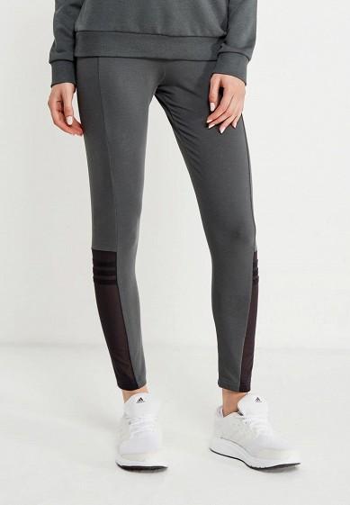 Купить Леггинсы adidas - цвет: серый, Индонезия, AD094EWUOH01