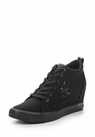 Купить Кеды на танкетке Calvin Klein Jeans - цвет: черный, Китай, CA939AWAPQA0