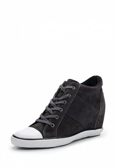 Купить Кеды на танкетке Calvin Klein Jeans - цвет: серый Китай CA939AWWXM74