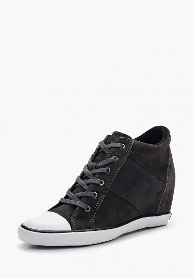 Купить Кеды на танкетке Calvin Klein Jeans - цвет: серый, Китай, CA939AWWXM74