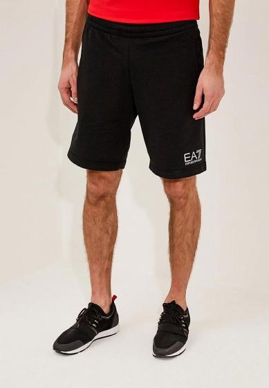 Купить Шорты спортивные EA7 - цвет: черный, Камбоджа, EA002EMZUG71